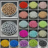 NEW 4mm 6mm 8mm 10mm DIY Round Pearl Spacer Loose Acrylic Beads Jewelry Making