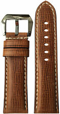 24x22 RIOS1931 for Panatime Cracked Brown Leather Watch Strap for Panerai