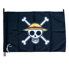 Anime One Piece Straw Hat Pirate Jolly Roger Flag Cosplay