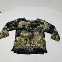 Jane Ashley Casual Lifestyle Women's Paris Light Weight Shirt Size Small