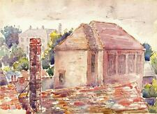 ROOFTOPS Watercolour Painting JOHN THIRTLE FRSA c1940