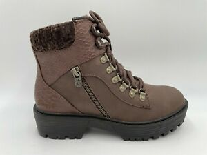 Ladies Blowfish Chunky Brown Lace Ankle Boots Sizes 3 4 5 6 7 8
