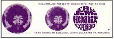1 1968 Jimi Hendrix Vintage Unused Full Ticket Del 00004000 Aware Fair Gnd laminated repro