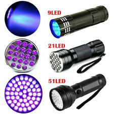 9/12/21/51 LEDs UV Schwarzlicht Taschenlampe 395nm Prüfgerät Lampe Flashlight s#