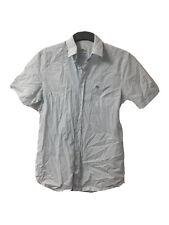 Lacoste Mens Small Plaid Cotton Short Sleeve Shirt 40(D257)