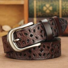 Genuine Leather Belts  Fashion for Women Buckle Strap Jeans