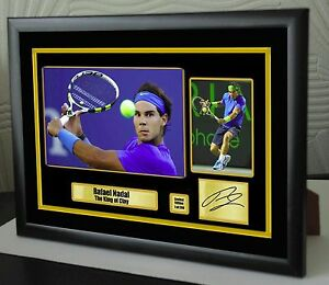 """Rafael Nadal Limited Edition Framed Canvas Tribute Print Signed """"Great Gift"""" #2"""