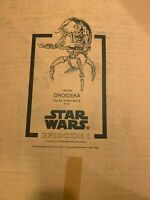 RARE STAR WARS Life Size DROIDEKA New Cardboard Display Kit - The Phantom Menace