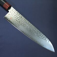 Japanese Chef's Kitchen Knife ISEYA Hammered Damascus VG10 210mm Made in Japan