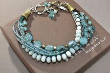 Silpada Sterling Silver Blue Quartzite Kyanite Apatite Brass Bracelet B2066 HTF