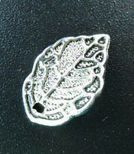 100PCS Tibetan Silver filigree leaf drops 16x10mm FC53