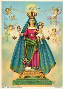 """Catholic Print Picture MADONNA of THE CHAIN Virgin Mary ready to frame 7 1/2x10"""""""