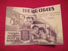 AIR CIRCUS LOST HOWARD HAWKS Movie Herald Pamphlet 1928