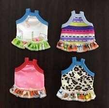 4 x Tiny Dress Top TShirt Vest Cloth For Hamster Mouse Rat Chipmunk Sugar Glider