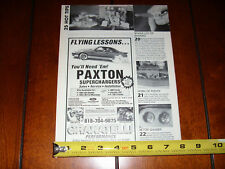 PAXTON SUPERCHARGER GRANATELLI PERFORMANCE FORD MUSTANG - ORIGINAL 1991 AD