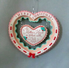 A Mother's Heart Is Filled With Love Holiday Merry Christmas Ornament 1991 Box