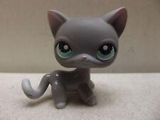 LITTLEST PET SHOP GREY CAT WITH GREEN EYES # 126