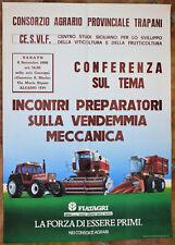 MANIFESTO PUBBLICITARIO ORIGINALE TRATTORI FIAT AGRI ANNI 80