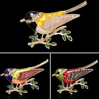 Fashion Animal Bird Rhinestone Crystal Enamel Brooch Pin Women Costume Jewelry