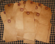 SPECIAL BUY ~ 100 PC SIZE 3 PRIMITIVE COFFEE STAINED HANG TAGS w/out string