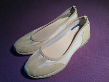 Rockport 9.5W Frona Mesh Ballet Flats - Washable - Beige/White