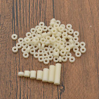 100 Pcs M3 Spacer Washer Non Threaded Hollow White Standoff Screws Accessories