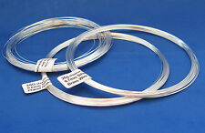 Silver Plated Brass Wire For Rosary or Jewellery Making 25g choice of gauge.