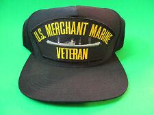 US Merchant Marine Veteran Snap Back Hat Cap. USA Made