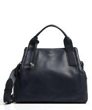 Radley Baylis Rd Large Leather Three Section Shoulder Grab Bag Ink Blue H1093401