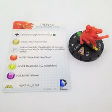 Heroclix DC 10th Anniversary set The Flash (Wally) #010 Uncommon figure w/card!