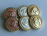 STAMPED VINTAGE CHANEL BUTTONS LOT OF 6 SIX  MIX  20 mm 0,8 inch