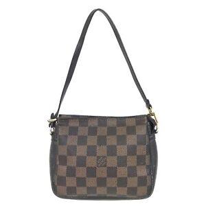 100% Authentic Louis Vuitton Damier Trousse Pochette N51982 [Used] {07-0243}