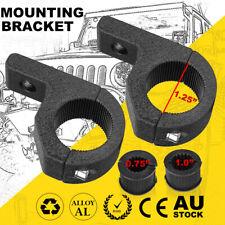 """2Pcs 1.25"""" 19-31mm Bullbar Mounting Bracket Clamp LED Work Light Bar Tube Mount"""
