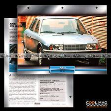 #042.01 ★ NSU Ro 80 1967 ★ (Moteur Rotatif WANKEL) Fiche Auto Car card