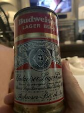 Vintage Budweiser Lager Flat Top Beer Can~2 Sided, Gold Trim~Very Good Condition