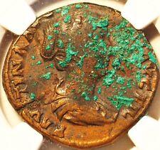 Roman Empire. NGC VF .Faustina Jr. AD 147-175/6 AE Sesterius. rv Diana stg