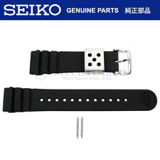 Seiko Reloj Banda Arnie SNJ025 SNJ027 H558-5009 Negro 22 mm Correa de goma de silicona