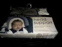 NEW JJ Cole Collections Newborn Infant Head Support Graphite Multistage 2 Layers