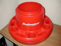 CALIFORNIA COOLTEC BUDWEISER FLOATING POOL COOLER / ICE CHEST AND DRINK HOLDER
