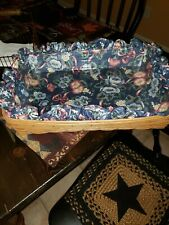 Longaberger 1995 Xl Extra Large Hostess Serving Tray Basket w/protector