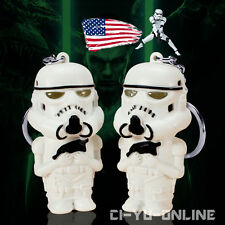 New Star Wars Stromtrooper LED Flashlight Sound and Light Keychain Key Ring US