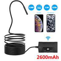 3.5M WiFi Endoscope Borescope Adjustable 5mm 6 LED Inspection for Android iOS US