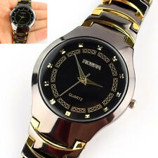 Casual Fashionable Men's Sport Stainless Steel Band Quartz Analog Wrist Watch