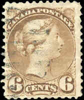 Used Canada F+ Scott #43 6c 1888-1897 Small Queen Issue Stamp