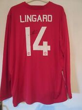 Manchester United 2016-2017 Signed Home Lingard Football Shirt with COA /43244