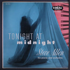 STEVE ALLEN: Tonight At Midnight LP (Mono, sm wobc, 2 neat clear taped seams)