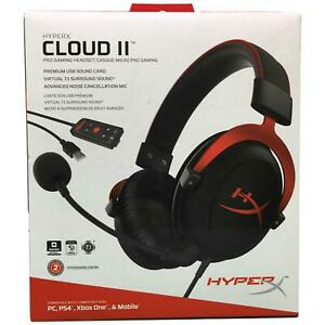Kingston HyperX Cloud II Gaming 7.1 Surround Sound Headset (Red) KHX-HSCP-RD
