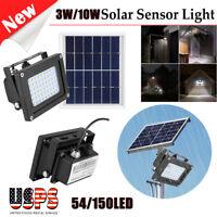 150 LED Solar Power Flood Light Sensor Motion Activated Outdoor Garden Lamp IP68