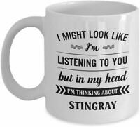 Printed Funny Coffee Mug Stingray White Novalit Ceramic Gifting Coffee Mug 11 OZ