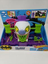 Hot Wheels DC The Joker Funhouse Playset Includes Mini-Figure & Batmobile NEW